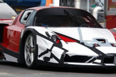 Strange Ferrari FXX caught in action