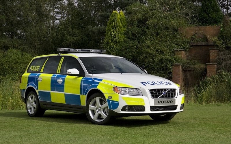 2008 Volvo V70 2.5 FlexiFuel Turbo police car