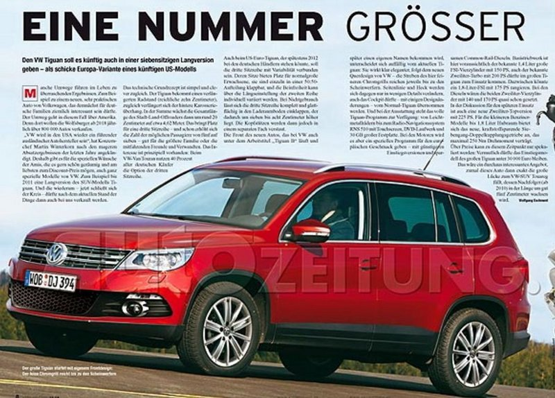 7-Seater Version of Tiguan SUV?