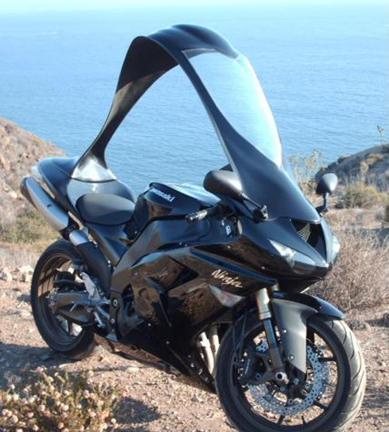 Strangest Motorcycle Accessory A Detachable Hardtop Canopy/windshield News - Top Speed & Strangest Motorcycle Accessory: A Detachable Hardtop Canopy ...