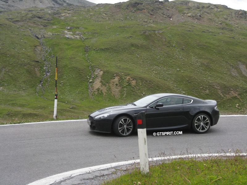 Aston Martin V12 Vantage RS spied at Stelvio Pass