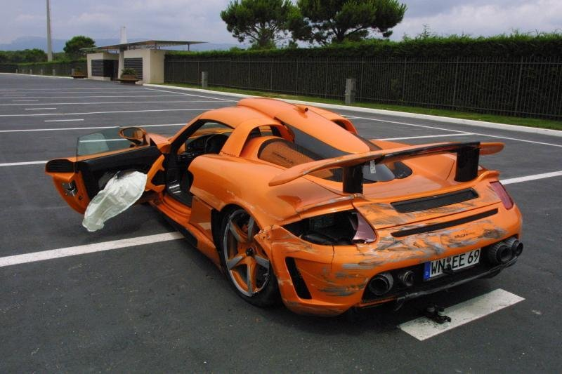 Gemballa Mirage GT crashed
