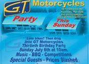 Hope on your bikes and go to the GT Motorcycles 30th Anniversary party this Sunday! - image 254966