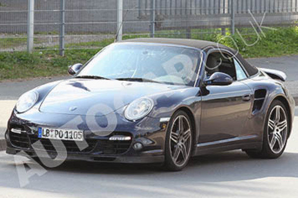 porsche 911 turbo convertible spy shots picture