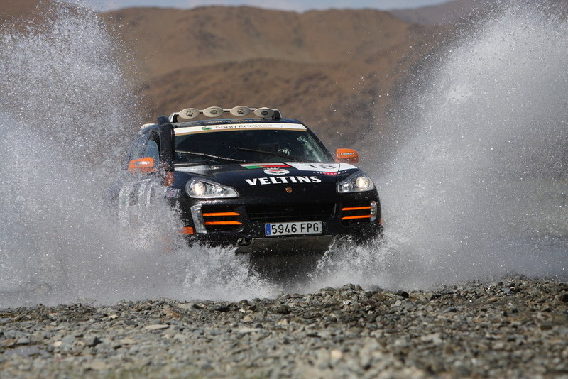 Team Spain on second place at the 2008 Transsyberia Rally