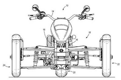 Harley-Davidson leaning trike patents to materialize into concept - image 265857