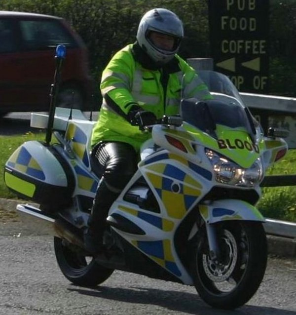 want to buy a police motorcycle going cheap... picture