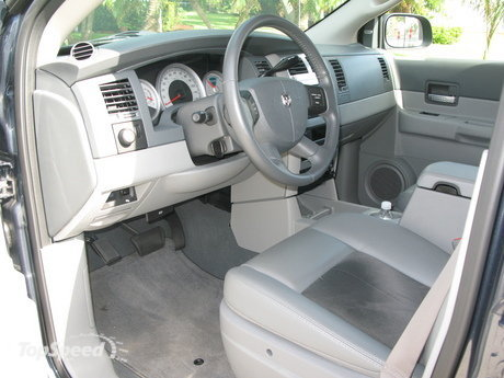 the interior of our durango is