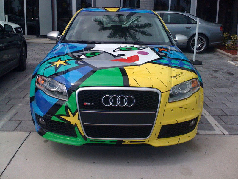 A very special Audi RS4: Romero Britto guest stars