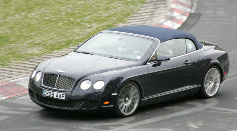 Bentley Continental GTC Speed spy shot