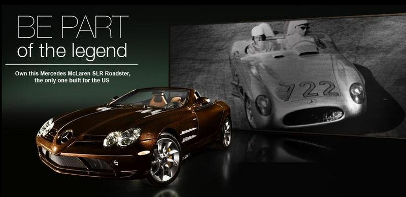 Last U.S. Mercedes-Benz McLaren SLR Roadster for auction