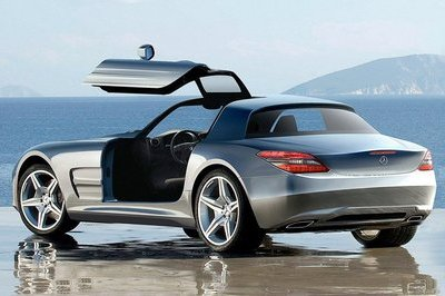 Mercedes-AMG Gullwing supercar rendering
