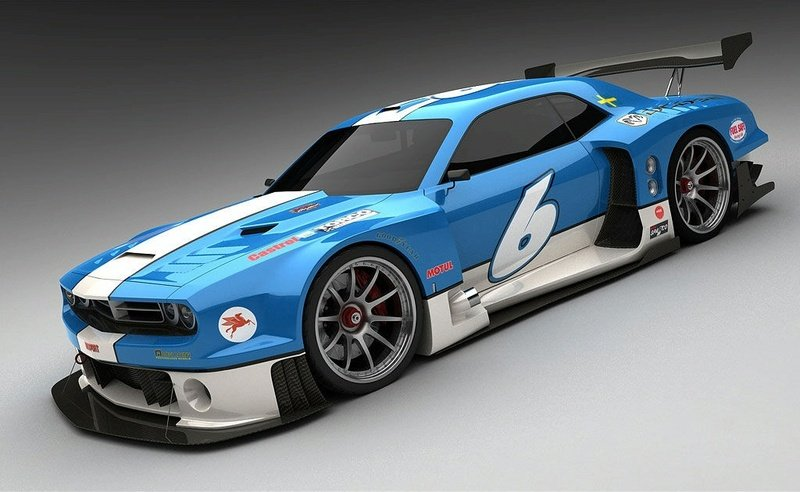 Rendering fun: Dodge Challenger for Le Mans