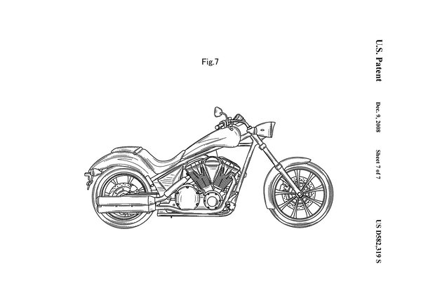 Harley Parts Drawings Honda Reveals Patent Images of
