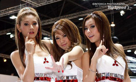 women of thailand international motor expo picture
