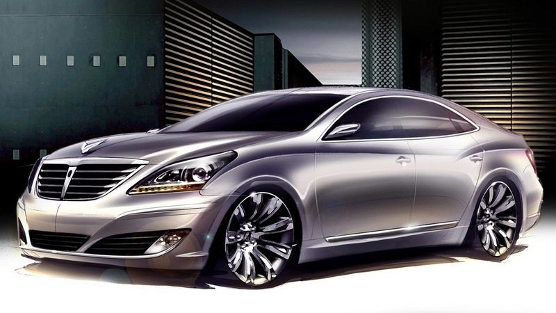 2010 Hyundai Equus first renderings
