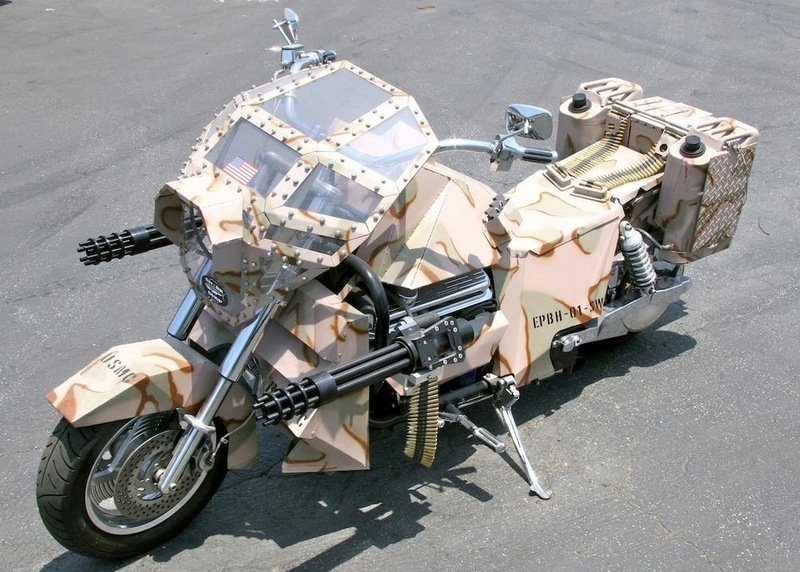 Armored Boss Hoss motorcycle
