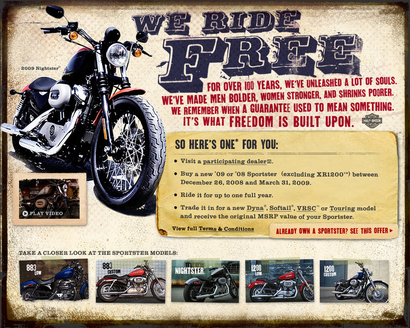 "Harley-Davidson ""Ride Free"" program"