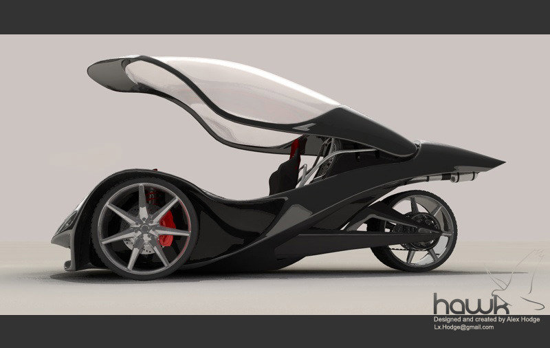 Hodge Hawk trike concept uses Honda RC51 engine