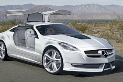 Mercedes SLK Gullwing rendering