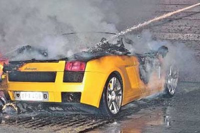 Merveilleux Lamborghini Gallardo On Fire