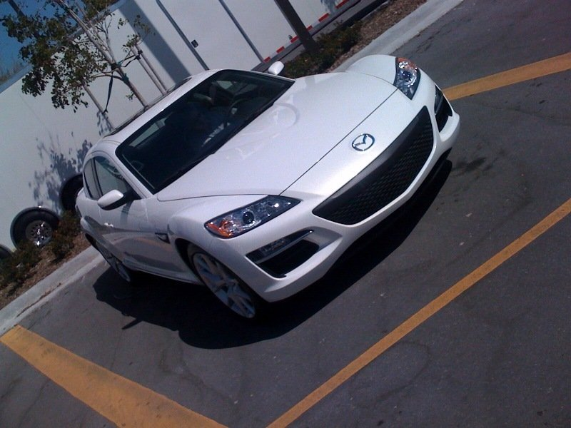 Mazda RX-8 facelift real life photos