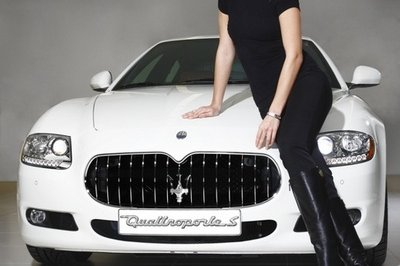Miss World 2006 and the Maserati Quattroporte