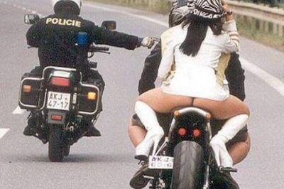 Motorcycle cop dislikes this view. How Possible?