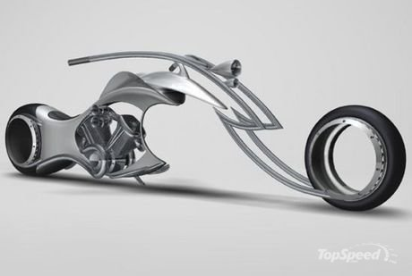 swordfish concept chopper a window toward hubless wheeled bikes of the future