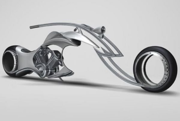 swordfish concept chopper a window toward hubless wheeled bikes of the future picture