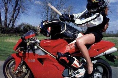 Motorcycle picture of the day: Ducati rider gets beaten!