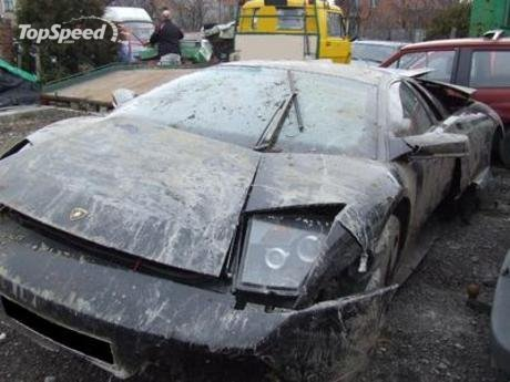 another lamborghini destroyed