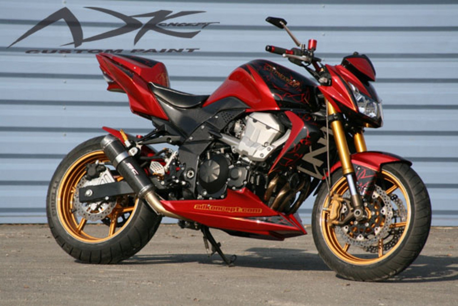 kawasaki z750 redluxe by ad koncept news top speed. Black Bedroom Furniture Sets. Home Design Ideas