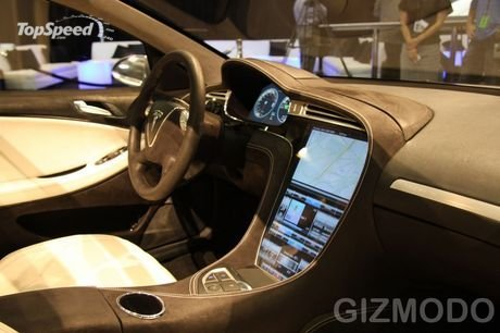 tesla model s - touchscreen dashboard