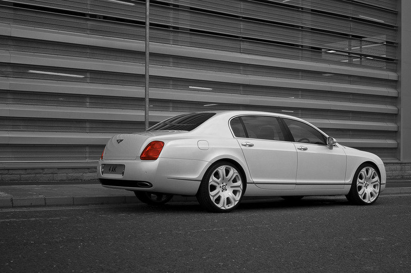 Pearl White Bentley Flying Spur by Project Kahn
