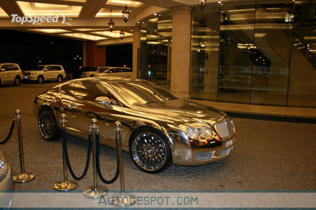 Bentley Veyron on Famous Vehicles  Golden Bentley Continental Gt Spotted In Dubai