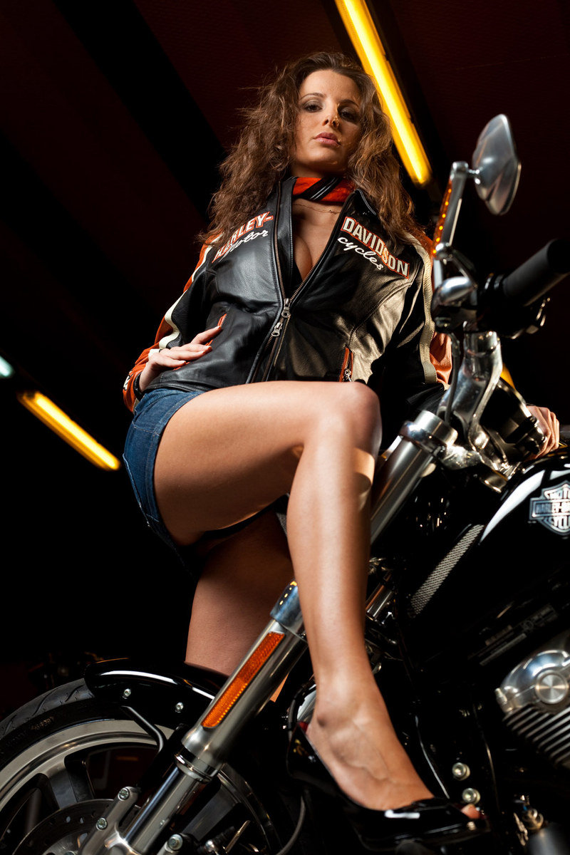 Playboy bunnies and Harley-Davidson bikes go perfectly well together