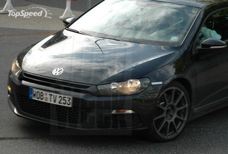 Vw Golf R20t. scirocco r20t spied in black