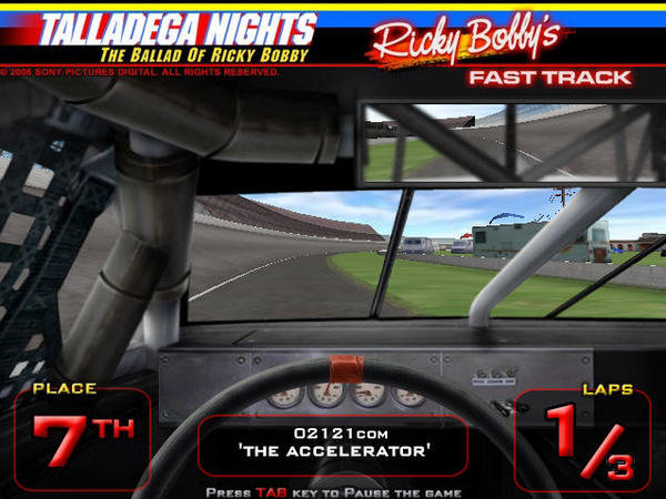 Talladega Nights Ricky Bobby Fast Track Car Games