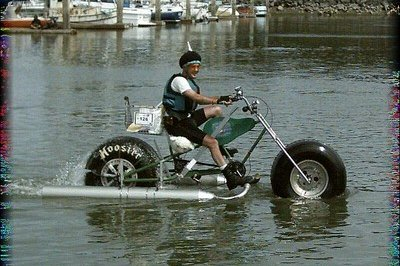 The amphibious motorcycle