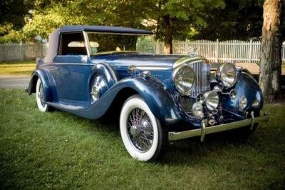 1938 Derby Bentley 4 1/4 Coachwork by Van den Plas @ Russo and Steele
