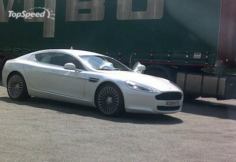 Aston Martin Vantage White. aston martin rapide caught in