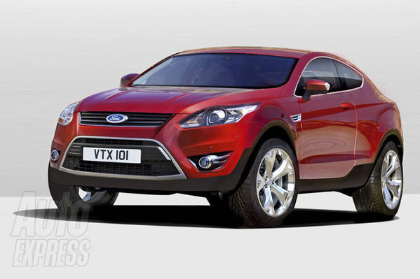 ford kuga coupe rendering picture