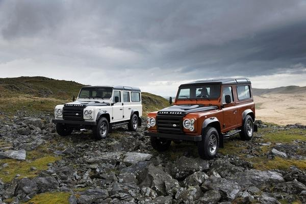 land rover defender fire and ice picture