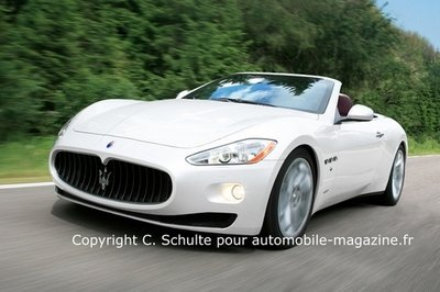 The new Maserati Spyder will have a canvas roof
