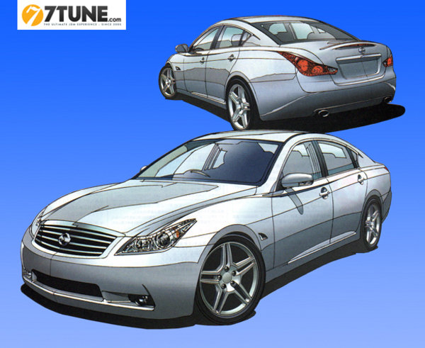 next infiniti m rendered picture
