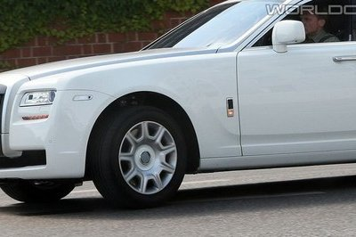 Rolls Royce Ghost spied in white
