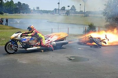 Video: Drag bike powered by MISSILE ENGINES gets down to business for a new world record