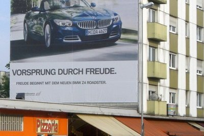 BMW infiltrates Audi turf with billboard