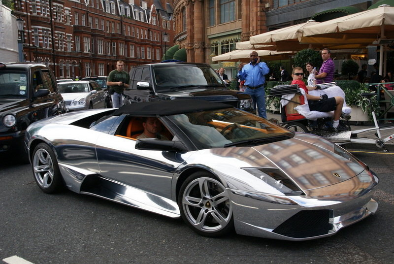 Chromed Lamborghini Murcielago LP640
